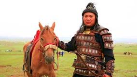 ULAANBAATAR, MONGOLIA - JULY 2013: Naadam Festival Horse Archery Crew stock video