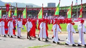 ULAANBAATAR, MONGOLIA - JULY 2013: Naadam Festival Opening Ceremony stock video
