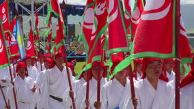 ULAANBAATAR, MONGOLIA - JULY 2013: Naadam Festival Opening Ceremony stock video footage