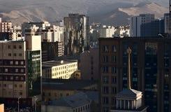 Aerial view of Ulaanbaatar, Mongolia royalty free stock photo