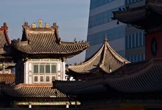 Choijin Lama Temple in Ulaanbaatar, Mongolia stock image