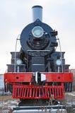 Ulaanbaatar Mongoliet-December, 02 2015: Serie EL-266 för ångalokomotiv Museum av järnväg utrustning i Ulaanbaatar Mongoliet Arkivfoto
