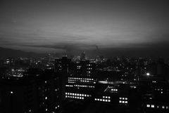 Ulaanbaatar przy nocą od obrzeża Fotografia Stock