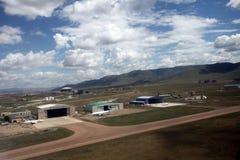 Ulaanbaatars gles flygplatshorisont Arkivfoton