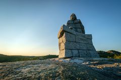 Ulabrand monument in Norway. Monument of the famous sea pilot Ulabrand Stock Photos