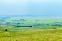 Ulagai steppe and Crooked River Royalty Free Stock Image