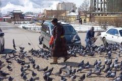 Ulan Bator eller Ulaanbataar, Mongoliet Arkivbild
