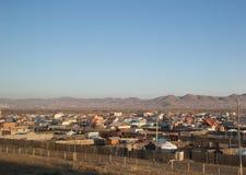 Ulan Bator, Mongólia fotografou do trem Imagens de Stock