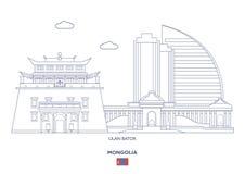 Ulan-Bator Stadt-Skyline, Mongolei Stockbilder
