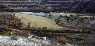 Ulan Buh grassland in autumn Royalty Free Stock Images