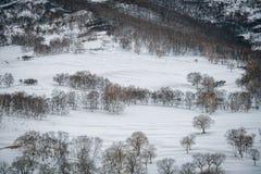 Ulan Buh grasslands in winter Royalty Free Stock Photo