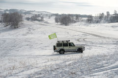Ulan Buh grasslands in winter Stock Photos