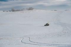 Ulan Buh grasslands in winter Stock Images