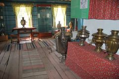 Ulan-Ude Buryatia, Ryssland, April 12, 2014 Ethnographic museum av folket av Transbaikalia fotografering för bildbyråer