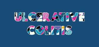 Ulcerative Colitis Concept Word Art Illustration. The words ULCERATIVE COLITIS concept written in colorful abstract typography. Vector EPS 10 available vector illustration