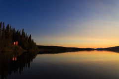 Ulen lake sunset Royalty Free Stock Image