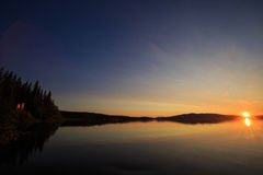 Ulen lake sunset Royalty Free Stock Images