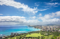 Ulewa rozjaśnia nad Honolulu zdjęcia royalty free
