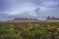 Ulewa w łuku parku narodowym zdjęcia royalty free
