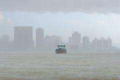 ulewnego deszczu statek Obrazy Royalty Free