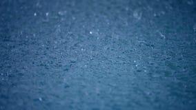 Ulewny deszcz krople zdjęcie wideo