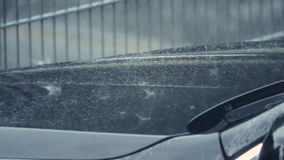 Ulewny Deszcz na burzowym dniu zbiory
