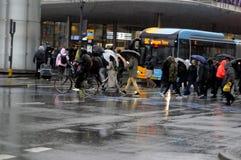 ULEWNY DESZCZ W KOPENHAGA DENAMRK Zdjęcie Stock