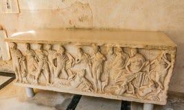 Ulga antyczny grobowiec w ` raju jarda ` Katedra St Andrew w Amalfi Obrazy Stock