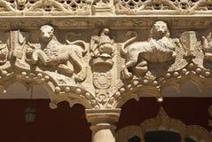 Ulga lwy antyczny budynek w Guadalajara Fotografia Stock
