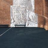 Ulga na ścianie Obraz Royalty Free