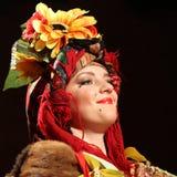 Ulia Fedoruca performs Ukrainian folk show Royalty Free Stock Photos