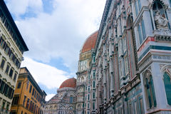 Ulic ściany blisko Santa Maria Del Fione katedry Firenze Obrazy Royalty Free