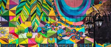 Ulica ścienni graffiti w Minsk Białoruś obraz royalty free