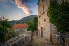 Ulica średniowieczny forteczny Stary bar obrazy royalty free