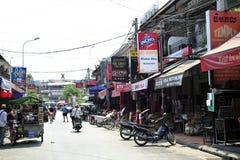 Ulica, Angkor wata miasto Obraz Royalty Free