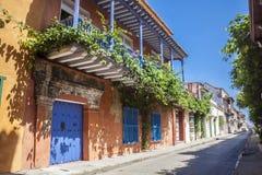 Ulica Cartagena De Indias Obrazy Royalty Free