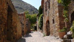 Ulica Castelnou, Piękna wioska w południowym Francja zdjęcie wideo