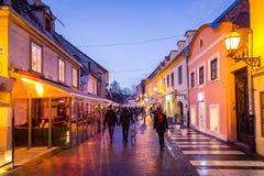 Ulica de Tkalciceva Imagem de Stock Royalty Free