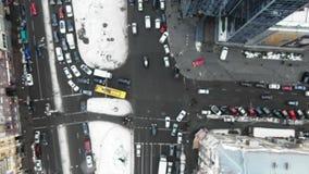 Ulica du?y miasto od ptaka oka widoku zbiory