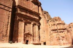 Ulica fasady w Petra, Jordania Zdjęcie Stock