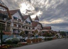Ulica i architektura Gramado miasto - Gramado, rio grande robi Sul, Brazylia obraz royalty free