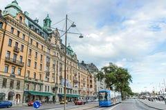 Ulica i budynki w Stockholm obraz stock