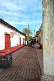 Ulica mexcaltitan wyspa Nayarit Meksyk Fotografia Stock