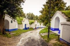 Ulica między wino lochami na Moravia Fotografia Royalty Free