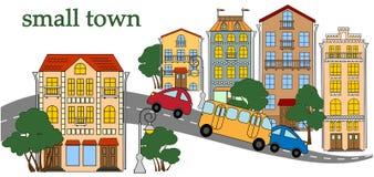 Ulica miasteczko Obrazy Royalty Free