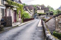 Ulica miasteczko Carennac zdjęcie stock