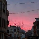Ulica miasteczko w Hiszpania obraz stock