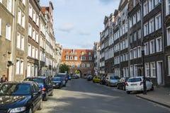Ulica mieści Ogarna Gdańskiego Fotografia Royalty Free