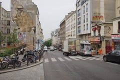 Ulica Paryski porcelanowy miasteczko Zdjęcia Royalty Free