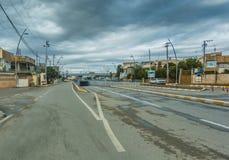 Ulica po deszczu fotografia stock